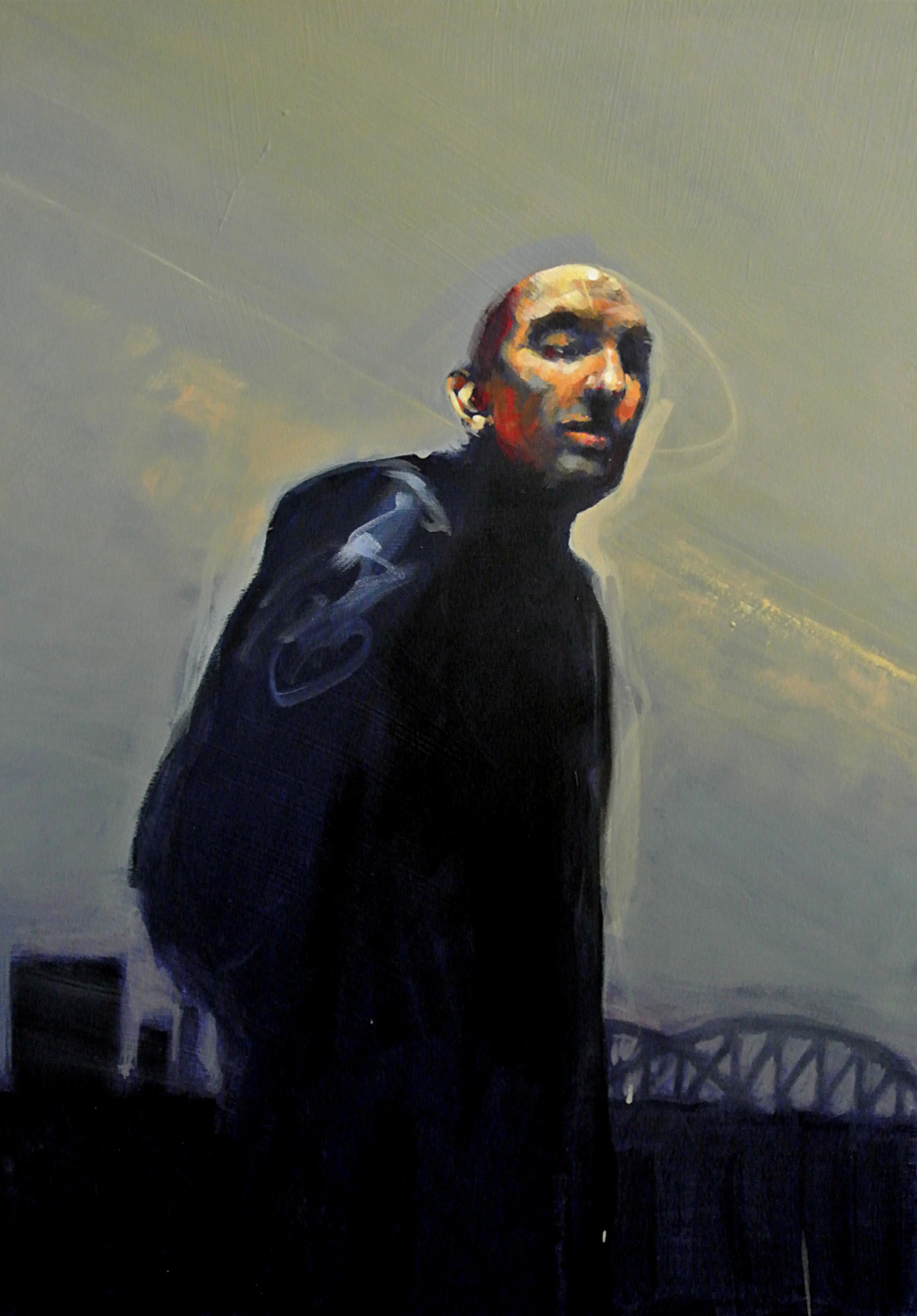 Asphalt  poetry - acrylic -70 x 50 - 3 March 2013