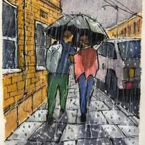 139 - Couple in the Rain
