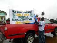 The Photo Above Is During Ebola, FHTH Undertook Some Awareness And Sentization Campaigns In The Various Communities In Liberia.