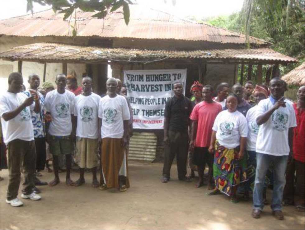 Some peoples from the various town in the western region of Liberia, attended the FHTH's communities empowerment programs in their district.