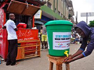 FHTH's Ebola awareness & sensitization campaign shows how to Wash the both hands.