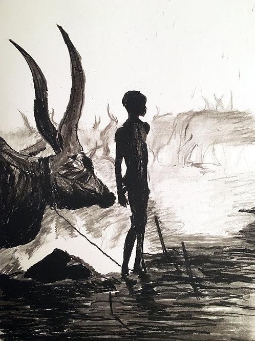 African Cow Boy