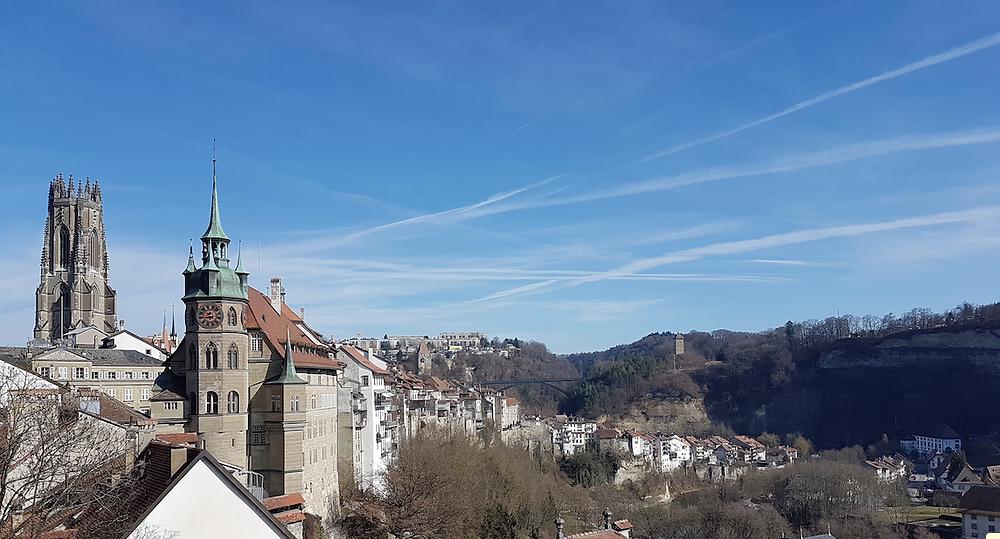 Baden Switzerland Airplane trails