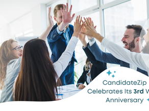 CandidateZip Celebrates 3 Years of Innovation, Excellence, and Success