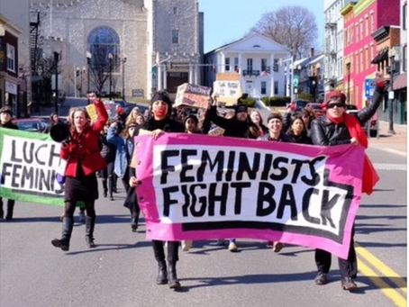 Feminist Fighters Rally Against State Violence in Geneva NY on International Women's Day