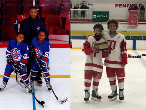 Penfield Hockey Stars Carry On Family Tradition of Black Excellence on the Ice