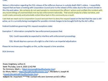 RPD Leadership, Law Department Sought to Block Public Release of Daniel Prude Body Cam Video