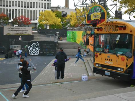 """Chalk Their Names"" Event Mixes Art, Activism, and Public Health"