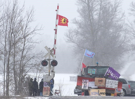 Wet'suwet'en Solidarity Protests Disrupt Business As Usual On Both Sides of Lake Ontario