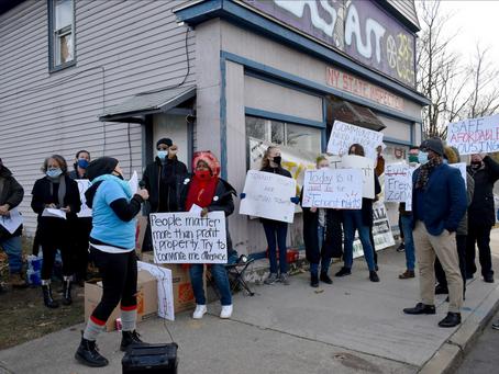 Tenant Union Keeps Up Eviction Blockade, Calls On Mayor to Use Emergency Powers to Call Moratorium