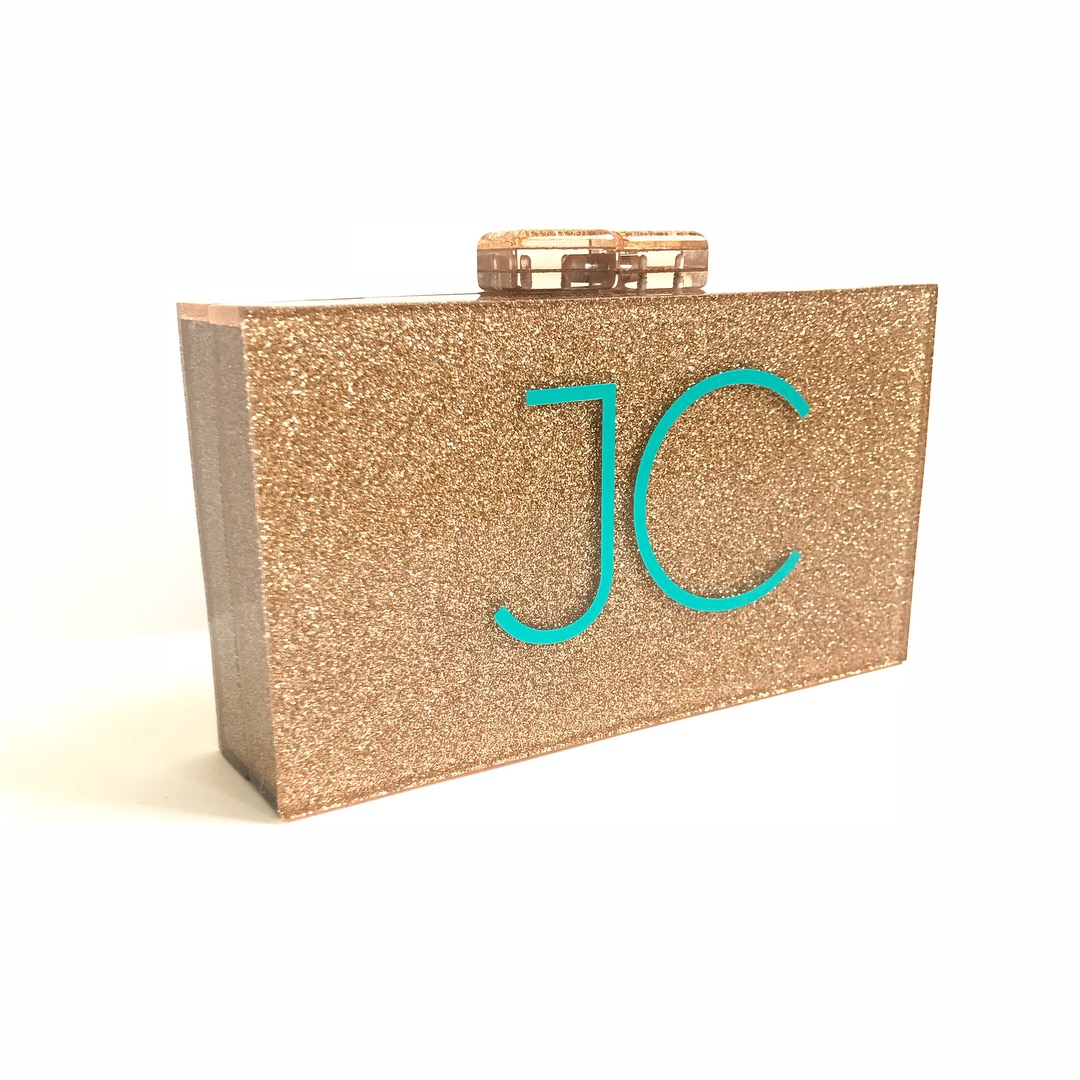 Glitter Acrylic Clutch