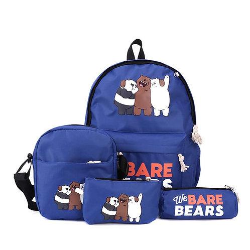 Cartoon We Bare Bears Printing Backpack Lightweight School