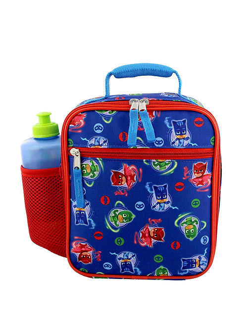 PJ Masks Boy's Girl's Soft Insulated School Lunch Box (One Size, Blue Red)