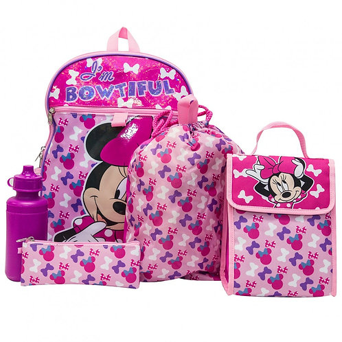 Minnie Mouse 5 PC Backpack Set