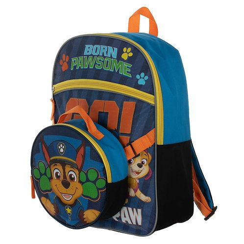 Paw Patrol Backpack with Shaped Lunch Box
