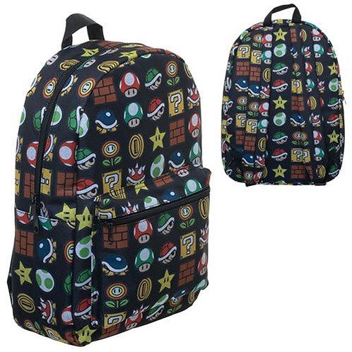 Super Mario Bros. Icon Print Backpack
