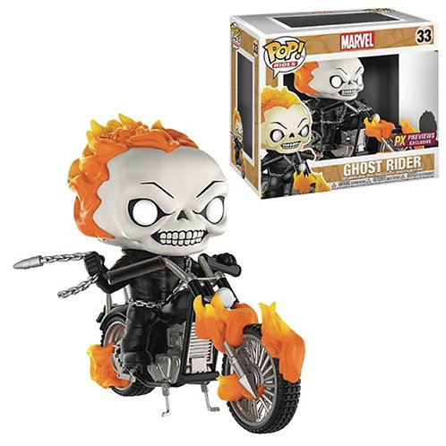 Marvel Classic Ghost Rider with Bike Pop! Vinyl Figure - Previews Exclusive