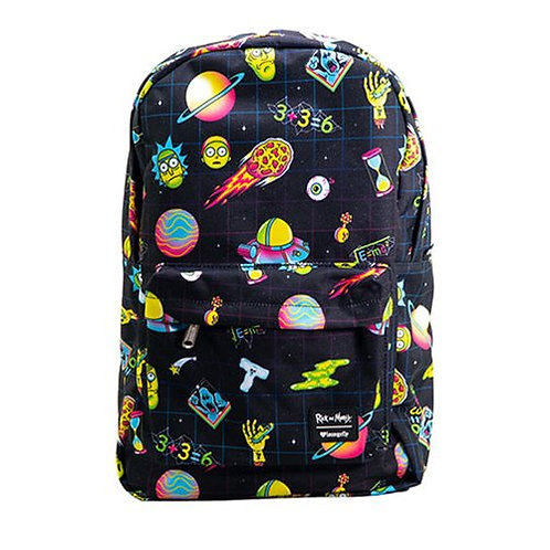 Rick and Morty Galaxy Print Backpack