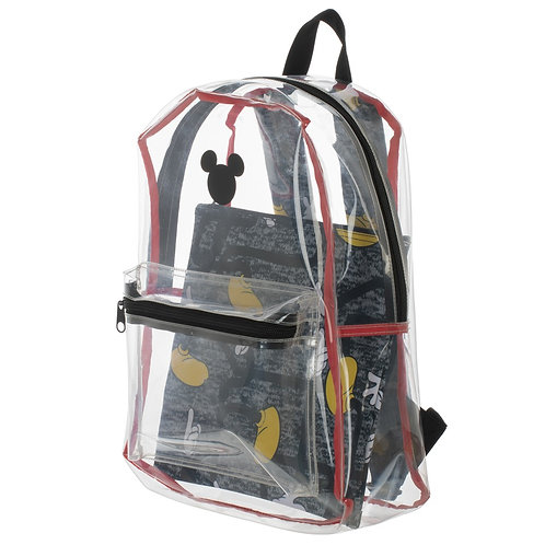 Disney Mickey Mouse Clear with Removable Pouch Backpack