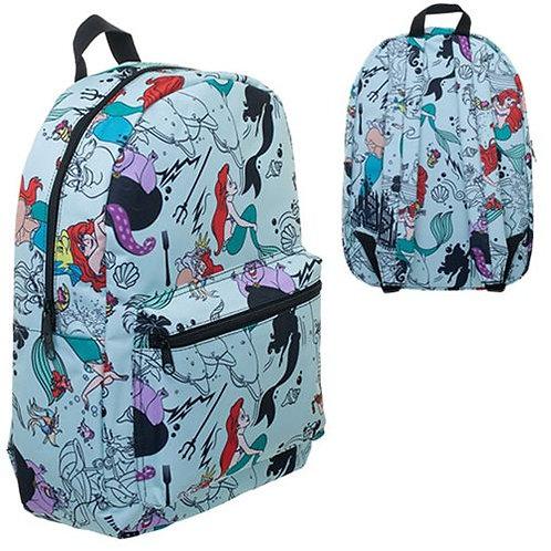 The Little Mermaid Print Blue Backpack
