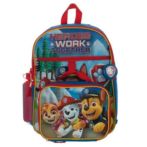 Paw Patrol 5 PC Backpack Set