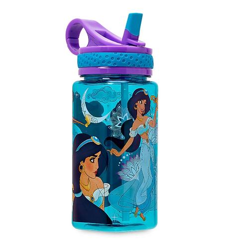 Jasmine Water Bottle with Built-In Straw