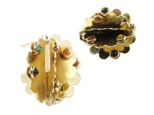 ear brass quartz mukticolor