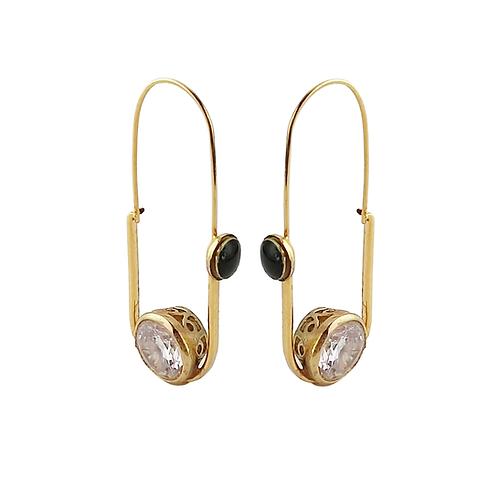 earring black enamel