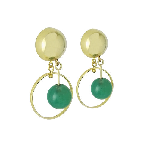 earring green quartz