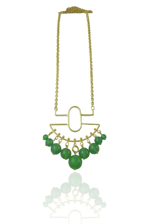 necklace green quartz