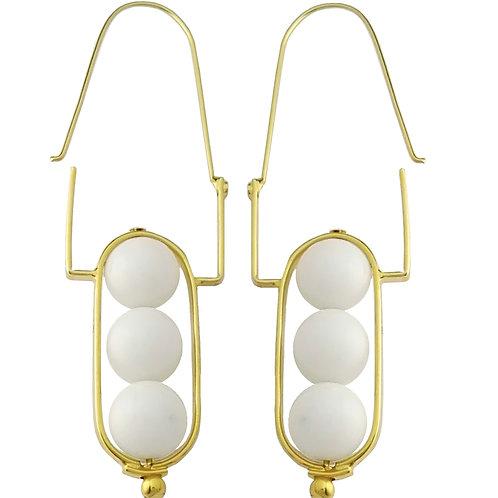 earring white agate