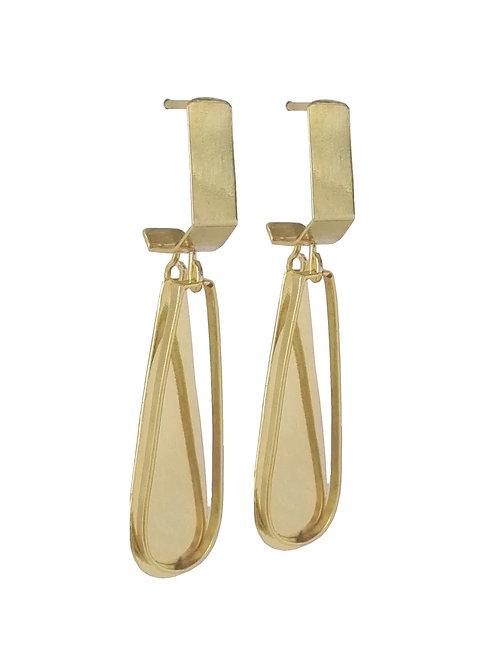 earring brass gold-tone