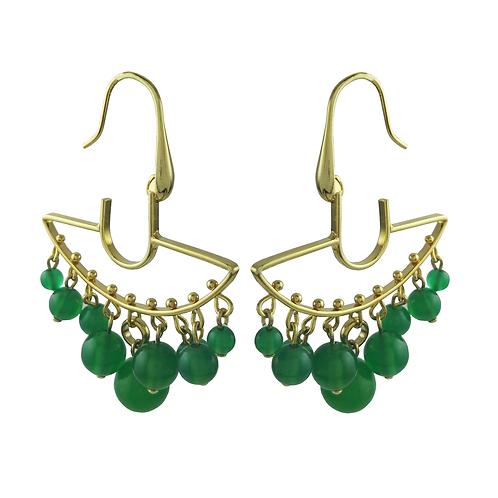 earring green quartz