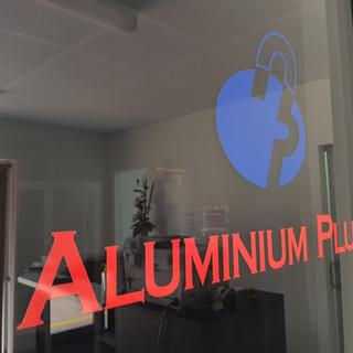 Aluminium Plus door through to showroom