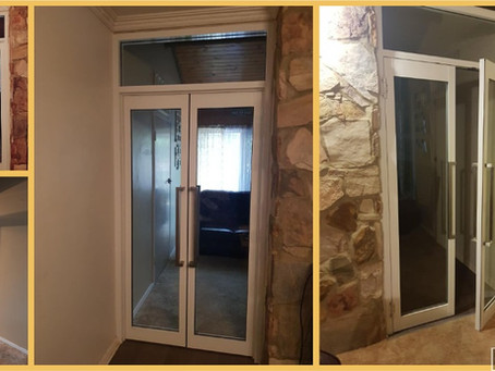 Beautiful new French Door addition