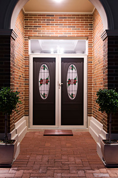 Front of home Clearshield front door and