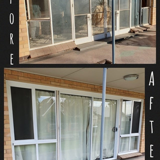 Largs front door before & after