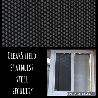 Clearshield stainless steel security screen
