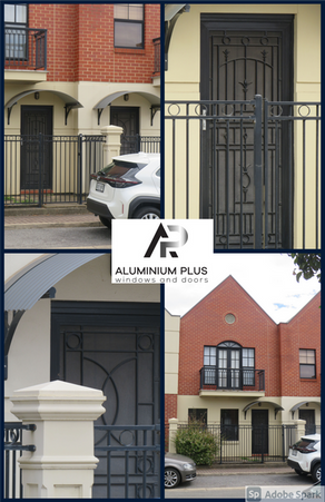 Norwood townhouse complex Colonial Castings front doors.png