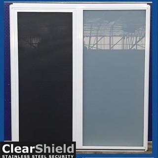 Bathroom window with Clearshield screen