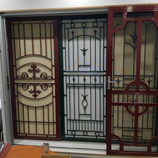 Cast panel security door display