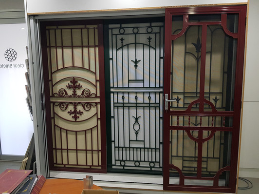 Cast panel security door display