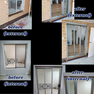 Before and after stacker door to extensi