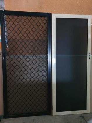 ClearShield security screen & diamond grill screen door