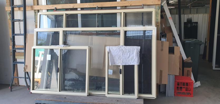 house lot of paperbark sliding windows Supply Only.j