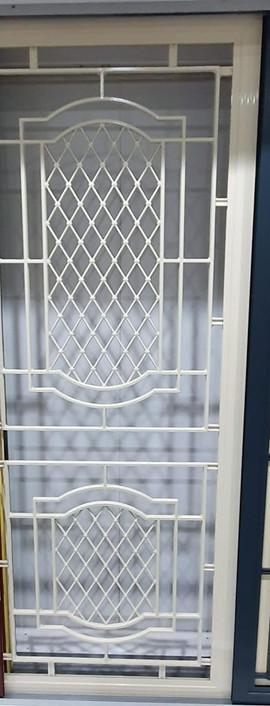 SP44AB cast panel door in Paperbark
