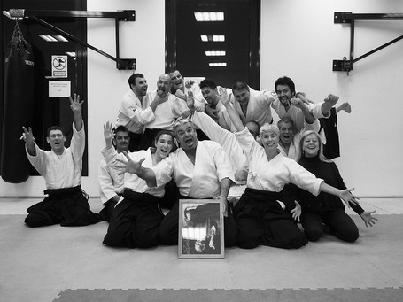Le groupe de l'Aikido Club du Baou
