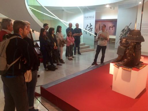 Visite guidée par Frédéric Doyon lors de l'exposition sur les Samourais au Musée d'Arts Asiatiques