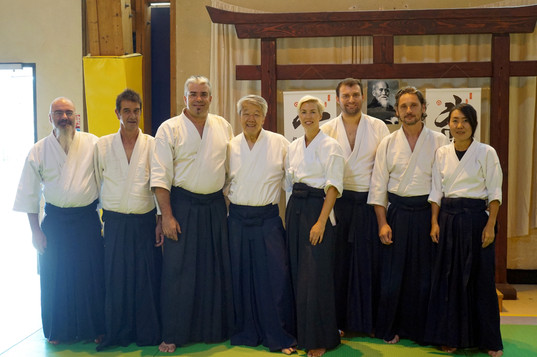 L'Aikido Club du Baou lors du Stage International du Vigan avec Ikeda Sensei