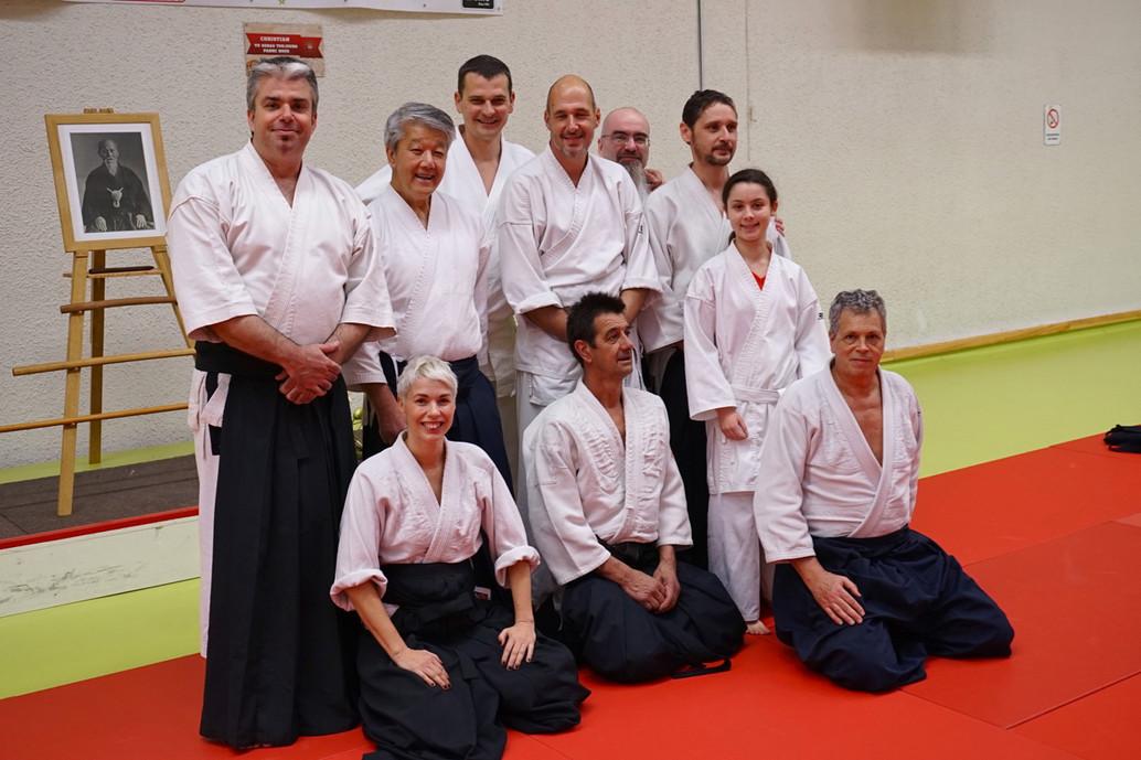 L'Aïkido Club du Baou avec Ikeda Sensei lors du Stage International d'Aïkido de Nice